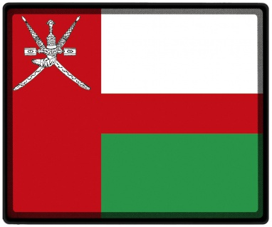Mousepad Mauspad mit Motiv - Oman Fahne - 82124 - Gr. ca. 24 x 20 cm