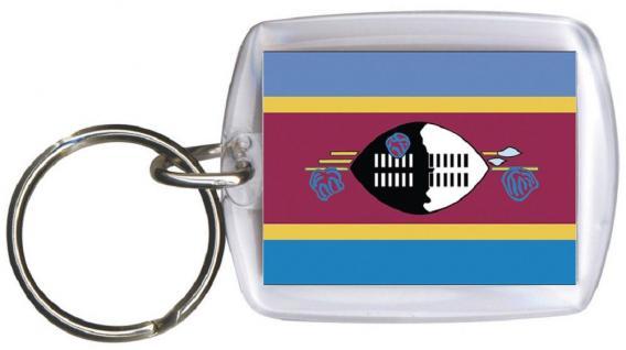 Schlüsselanhänger Anhänger - SWASILAND - Gr. ca. 4x5cm - 81161 - Keyholder WM Länder