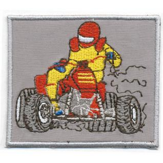 Aufnäher - Quadfahrer - 06036 - Gr. ca. 8 x 7 cm - Patches Stick Applikation