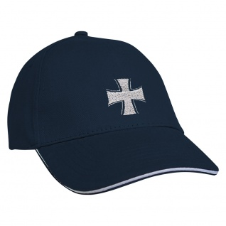Baseballcap mit Einstickung Eisernes Kreuz 68284 Navy