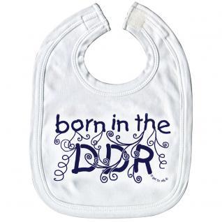 Baby-Lätzchen mit Druckmotiv - born in the DDR - 07032 weiß