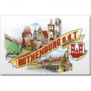 Küchenmagnet - Rothenburg ob der Tauber - Gr. ca. 8 x 5, 5 cm - 38789 - Magnet Kühlschrankmagnet
