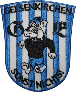 AUFNÄHER - Gelsenkirchen - NEU - 00554 - Gr. ca. 7, 5 cm x 10, 5 cm - Patches Stick Applikation Bügel-Emblem