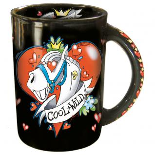 Tasse mit Print Cool and Wild 57367 schwarz