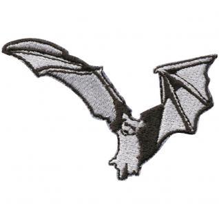 Aufnäher - Fledermaus - 00090 - Gr. ca. 6, 5 x 4 cm - Patches Stick Applikation