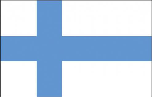 Auto-Länderflagge - Finnland - Gr. ca. 40x30cm - 78050 - Flagge mit Klemmstab Autoländerfahne