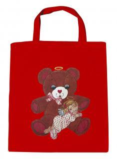 (08903/2-rot) Umweltfreundliche Baumwoll - Tasche , ca. 28 x 43 cm mit Aufdruck