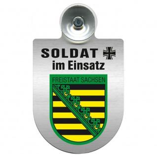 Einsatzschild Windschutzscheibe incl. Saugnapf - Soldat im Einsatz - 309392 - Region Freistaat Sachsen