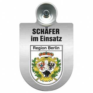 Einsatzschild Windschutzscheibe incl. Saugnapf - Schäfer im Einsatz - 309387 - Region Berlin