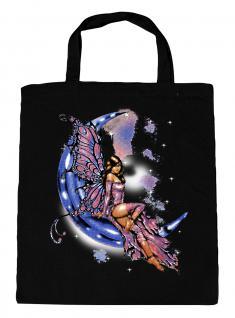 (U10899)Umweltfreundliche Baumwoll - Tasche , ca. 28 x 43 cm mit Aufdruck in 7 Farben schwarz