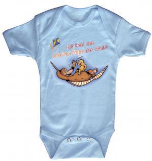 Babystrampler mit Print ? Ich hab´den besten Papa der Welt ? 08318 blau - 0-6 Monate