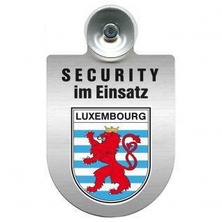 Einsatzschild Windschutzscheibe - Security im Einsatz - incl. Regionen nach Wahl - 309350 Region Luxembourg