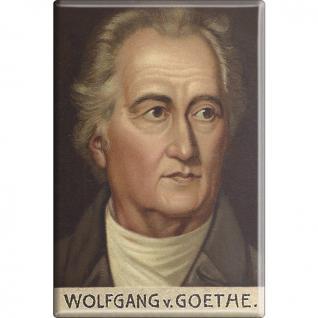 Magnet - JOHANN-WOLFGANG VON GOETHE - Gr. ca. 8 x 5, 5cm - 38368 - Küchenmagnet