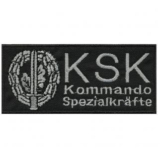 AUFNÄHER - KSK Kommando - 00850 - Gr. ca. 10, 5 x 4, 5 cm - Patches Stick Applikation