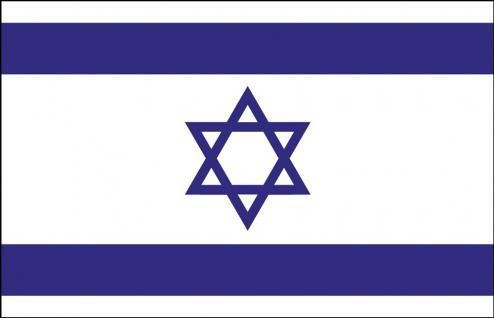 Länderfahne Stockländerfahne - Israel - Gr. ca. 40x30cm - 77069 - Schwenkfahne