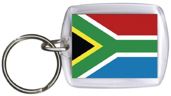 Schlüsselanhänger Anhänger - SÜDAFRIKA - Gr. ca. 4x5cm - 81137 - WM Länder
