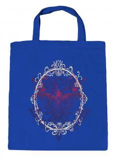 (U09582)Umweltfreundliche Baumwoll - Tasche , ca. 28 x 43 cm mit Aufdruck in 7 Farben blau