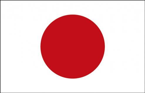 Schwenkflagge Stockländerfahne - Japan - Gr. ca. 40x30cm - 77072 - Länderflagge Fahne