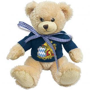 Plüsch Teddybär mit Shirt und Schleife Bayern Wappen 27096