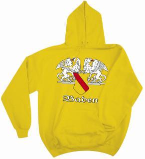 Kapuzen-Sweatshirt mit Print - Baden Wappen Emblem - 09024 Gr. S-2XL