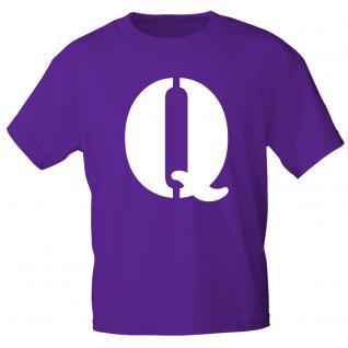"""Marken T-Shirt mit brillantem Aufdruck """" Q"""" 85121-Q M"""