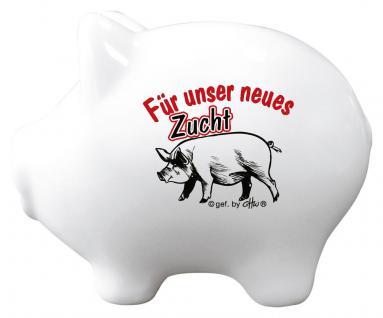 Keramik Sparschwein - Für unser neues Zucht Schwein - 22231