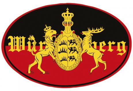 PVC-Aufkleber- Sticker Wappen oval - Württemberg - 301598-4 - Gr. ca. 8 x 5cm