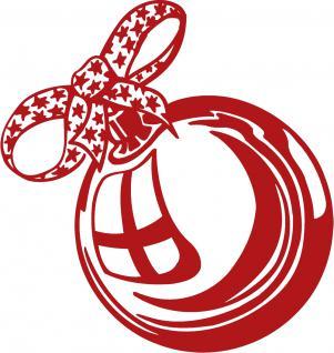 """Wandtattoo/ Dekorfolie mit Motiv """" Weihnachtskugel"""" Ø 90cm Länge max.100 cm, in 11 Farben WD0803 rot"""