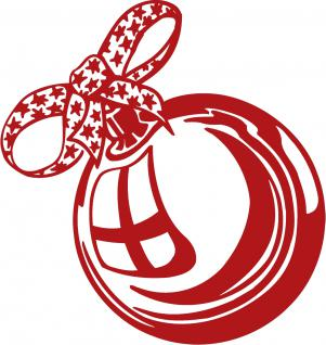 Wandtattoo Dekorfolie Weihnachtskugel WD0803 - rot / 175cm