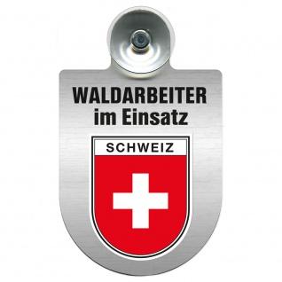 Einsatzschild Windschutzscheibe incl. Saugnapf - Waldarbeiter im Einsatz - 309726 Region Schweiz