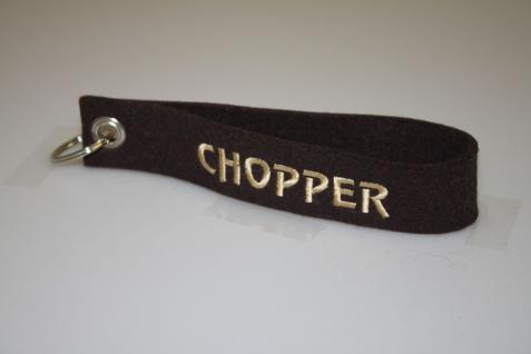 Filz-Schlüsselanhänger mit Stick - Chopper - Gr. ca. 17x3cm - 14503