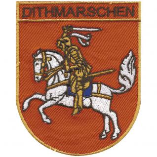 AUFNÄHER - Wappen - DITHMARSCHEN - 00492 - Gr. ca. 9 x 6, 5 cm - Patches Stick Applikation
