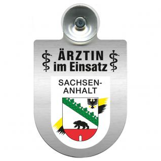 Einsatzschild Windschutzscheibe incl. Saugnapf - Ärztin im Einsatz - 309479-11 Region Sachsen-Anhalt