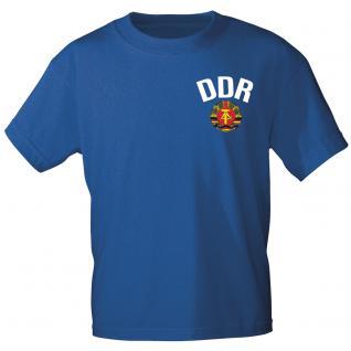 Kinder-T-Shirt unisex mit Aufdruck - DDR - 06894 blau - Gr. 134/146