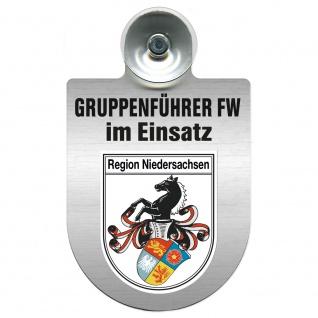 Einsatzschild Windschutzscheibe incl. Saugnapf - Gruppenführer Feuerwehr im Einsatz - 309750 Region Niedersachsen