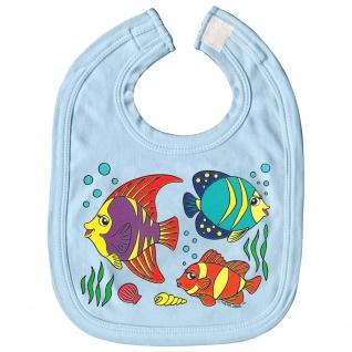 Baby-Lätzchen mit Print Fische Nemo L12779 versch. Farben hellblau