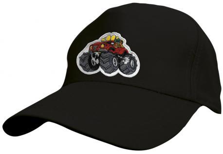 Kinder Baseballcap mit Stickmotiv - Monster Truck - 69127 versch. Farben schwarz