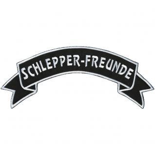 Rückenaufnäher - Schlepper-Freunde - 07307 - Gr. ca. 28 x 7 cm - Patches Stick Applikation