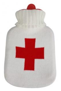 Wärmflasche mit Einstickung ? Rotes Kreuz - 39112 Beige