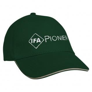 Baseballcap mit Einstickung IFA Pionier 67021 grün