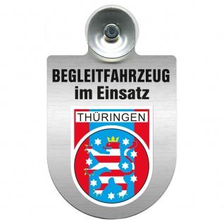 Einsatzschild Windschutzscheibe incl. Saugnapf - Begleitfahrzeug im Einsatz - 309457 - Region Thüringen