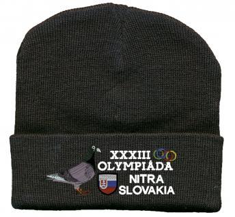 (TB666) Hip Hop Mütze, Strickmütze, Mütze mit Einstickung - Tauben Olympiade -