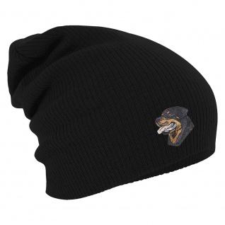 Longbeanie Slouch-Beanie Wintermütze Rottweiler 54103 schwarz