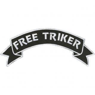 Rückenaufnäher - Free Triker - 08536 - Gr. ca. 28 x 7 cm - Patches Stick Applikation