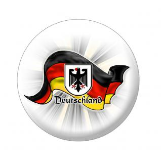 (A16223) Metall-Button als Länderflagge Deutschland Magnet