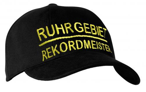 BW Cap Base-Cap Schirmmütze Einstickung - RUHRGEBIET REKORDMEISTER - 68818 schwarz - Baseballcap Kappe - Vorschau