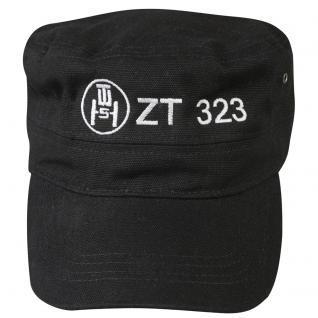 Militarycap mit Einstickung - ZT 323 - 60557 - schwarz