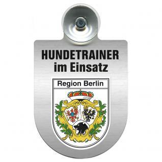 Einsatzschild Windschutzscheibe incl. Saugnapf - Hundetrainer im Einsatz - 309379-14 - Region Berlin