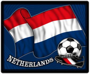 Mousepad Mauspad mit Motiv - Niederlande Fahne Fußball Fußballschuhe - 83119 - Gr. ca. 24 x 20 cm - Vorschau