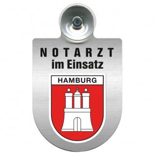 Einsatzschild Windschutzscheibe incl. Saugnapf - Notarzt im Einsatz - 309353 Region Hamburg